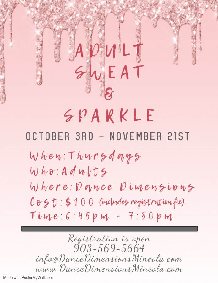 sweat and sparkle